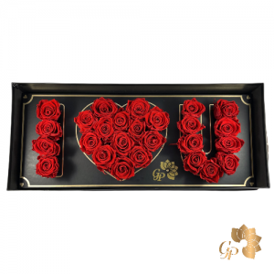 Flowerbox met Longlife Rode Rozen