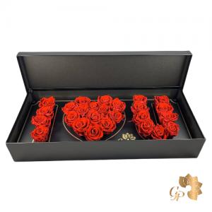 Deep Love Flowerbox met Longlife Rozen
